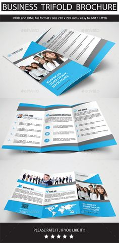 Business Trifold Brochure Template #design Download: http://graphicriver.net/item/business-trifold-brochure/11775857?ref=ksioks