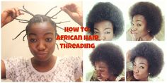 How to achieve the ultimate stretch on your TWA using African Hair Threading.