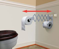 Accordion Style Toilet Roll Holder Lets You Bring The Paper Closer Diy Toilet Paper Holder Toilet Paper Holder Toilet Paper