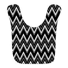 CafePress Neutral Gothic Chevron Pattern Bib