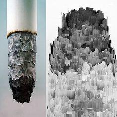 Cigarette Ash Landscape by Yang Yongliang - Graphic Design