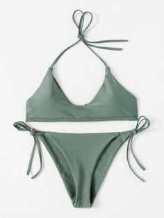 Shop Self Tie Halter Bikini Set online. SheIn offers Self Tie Halter Bikini Set & more to fit your fashionable needs.