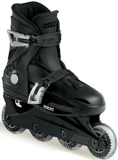 #Inline #skating with the dark side, these boots are rumored to strap and tighten themselves by sheer willpower.