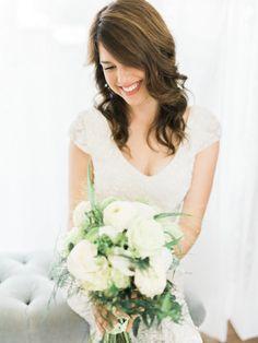 Powder Blue Outdoor Garden Wedding - Style Me Pretty