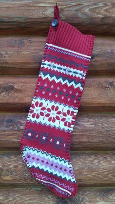 Check out this item in my Etsy shop https://www.etsy.com/listing/497312461/upcycled-sweater-christmas-stocking-red