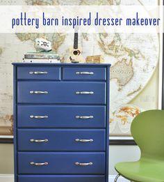 pb kids inspired blue dresser coco's dresser