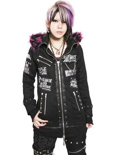Custom CONFUSION GRAPHIC GORGEOUS Long Parka Pink Black Mix Fur. See more at: http://www.cdjapan.co.jp/apparel/sexpot.html #punk #jrock