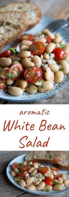 White Beans Salad Vegan Tomatoes Mint