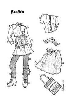 Karen`s Paper Dolls: Benitta 1-8 Paper Doll to Colour. Benitta 1-8…