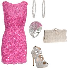 Girly New Years Look, created by hasnija.polyvore.com  Love this minus the shoes