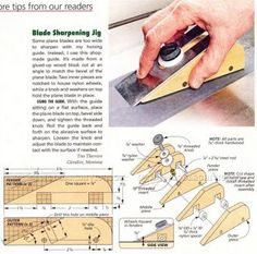 #1124 Plane Iron Sharpening Jig - Sharpening Tips, Jigs and Techniques