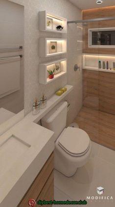 Diy home decor Diy home decor Modern Small Bathrooms, Bathroom Layout, Modern Bathroom Design, Bathroom Interior Design, Bathroom Styling, Interior Design Living Room, Toilette Design, Bad Styling, Bathroom Toilets