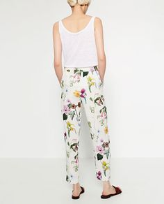 Image 5 of FLORAL PRINT TROUSERS from Zara