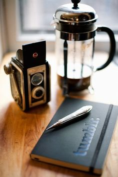 coffee, photo and notebook, what a great day !