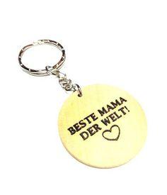 """Schlüsselanhänger """"Beste Mama der Welt"""" aus Holz Dreamlife https://www.amazon.de/dp/B01N7EISGH/?m=A105NTY4TSU5OS"""