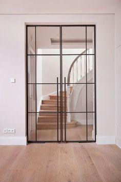 Steel and glass door-Stahl-Glas-Tür Steel and glass door - Entrance Doors, Patio Doors, Door Design, House Design, Steel Frame Doors, Modern Exterior, Modern Door, Internal Doors, Interior Barn Doors