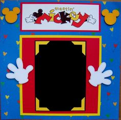 Meetin Mickey Disney One 12X12 Premade Scrapbook Page