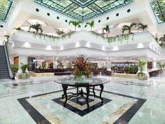 Moon Palace All-Inclusive Resort Lobby in Cancun, Mexico ~ remember arriving & thinking WOW !! #Stunning ❤️