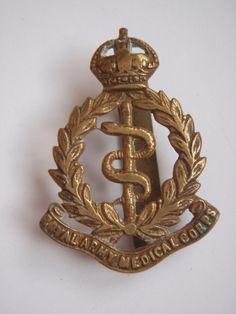 Royal Army Medical Corps (R.A.M.C.) Cap Badge