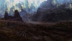 Spellforce 3 - Enviroment sketches 1, Raphael Lübke on ArtStation at https://www.artstation.com/artwork/kz3Pn