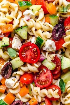 Greek Pasta Salad - Skinnytaste