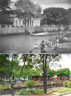 Sociëteit De Harmonie aan de Molenvliet in Weltevreden te Batavia, ca 1900, ,.,  Harmonie, Jakarta, 2016