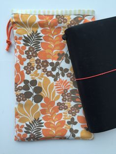 Midori Traveler's Notebook Bag Drawstring by LowlandOriginals on Etsy Notebook Bag, Travelers Notebook, Moleskine, Buy And Sell, Fabric, How To Make, Handmade, Bags, Stuff To Buy