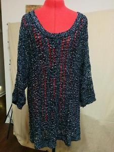 Torrid Open Weave Tunic Sweater Plus Size 3 Black & Silver Dolman Sleeves  | eBay
