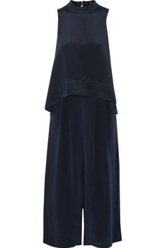 TIBI Silk-Crepe Jumpsuit. #tibi #cloth #jumpsuit