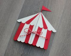 Circus Tent Invitations- pack of 10 | Handmade Carnival party