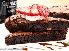 Guinness Chocolate, Eat Dessert First, Chocolate Brownies, Sweets, Dessert Ideas, Desserts, Cakes, Food, Life