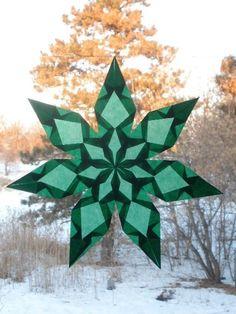 7 Pointed Green Window Star Sun Catcher. $15,00, via Etsy.