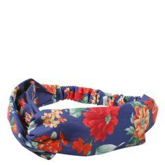 Faixa turbante Floral azul marinho