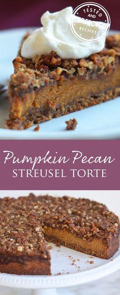 Pumpkin Pecan Streusel Torte