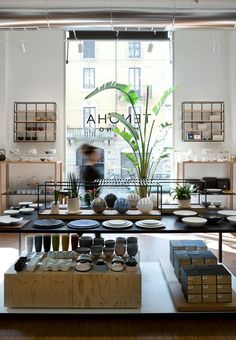 The project involves the complete interior renovation in a former industrial building from previously a wallpaper laboratory.The building is. Home Design Store, House Design, Pottery Store, Lifestyle Store, Commercial Architecture, Interior Photography, Retail Space, Shop Interiors, Retail Design