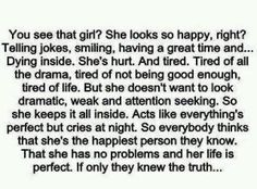 ...and the truth is that there's Someone who loved her so much and counted her good enough to die for her even before she was born. And that same Someone will bring fulfillment and joy and the perfect people for her along if she allows Him to. #truestory #forreal