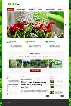 Template 48884 - Landscape Design Responsive Joomla Template
