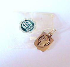 Vintage Argent Sterling Enamel Monaco Shield Princess Grace Ranier Charm & Pkg