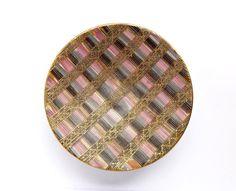 Bitossi Seta Striped Bowl Aldo Londi Purple by JunkFiendModern