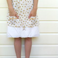 Add a dash of whimsy and wonder to your kitchen adventures with a vintage apron. These are also great worn over top of a black skirt as a layered outfit. $15.00 Vintage Apron, Layering Outfits, Short Dresses, Stylish, Pretty, Skirts, How To Make, Roses, Clothes
