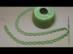 Урок вязания ЛЕНТОЧНОГО КРУЖЕВА - КОЛЕЧКИ - Crochet Simple Lace - как вязать тесьму шнур - YouTube