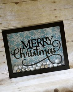 Merry Christmas Shadow Box including Bells great for christmas decoration