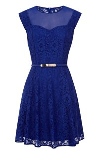 Savannah Lace Skater Dress