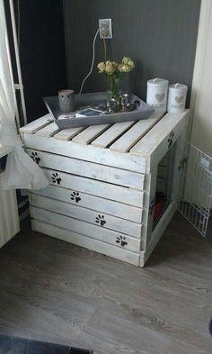 Hondenbench gemaakt van pallethout