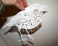 papercut wood thrush