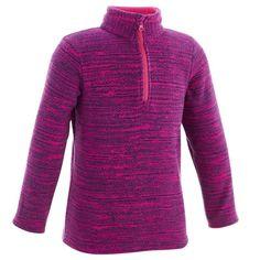 295362846 Deportes de Montaña Niños 5 a 14 años - Forro polar HIKE 100 niños violeta  TALLA