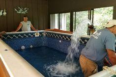 Indoor swim spa we filled
