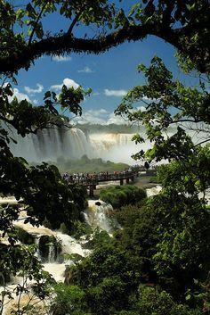 #CataratasdoIguaçu em um ângulo menos conhecido, mas igualmente lindo. #Brasil