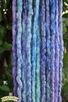 Winter Crochet Synthetic Dreads x 10 DE by blacksunshineiow