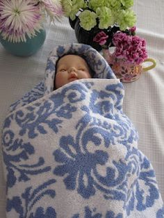 Handmade hooded baby towel.  I've been making them for almost 30 years.